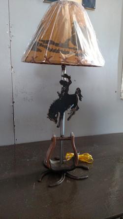 Bucking Horse Lamp with Stirrup