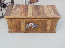 Trunk with Horse Head Art