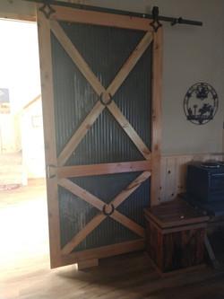 Corrugated Tin Barn Door