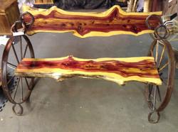 Cedar Wheel Bench 07