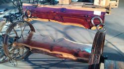 Cedar Wheel Bench 08