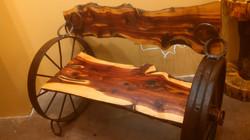 Cedar Wheel Bench 02