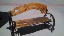 Pine Bench Black Wheels 13
