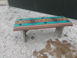 Turquoise Southwest Bench