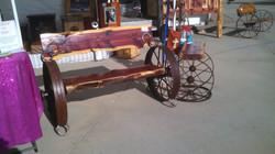 Cedar Wheel Bench 05