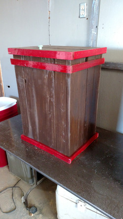 Brown with Red Trim