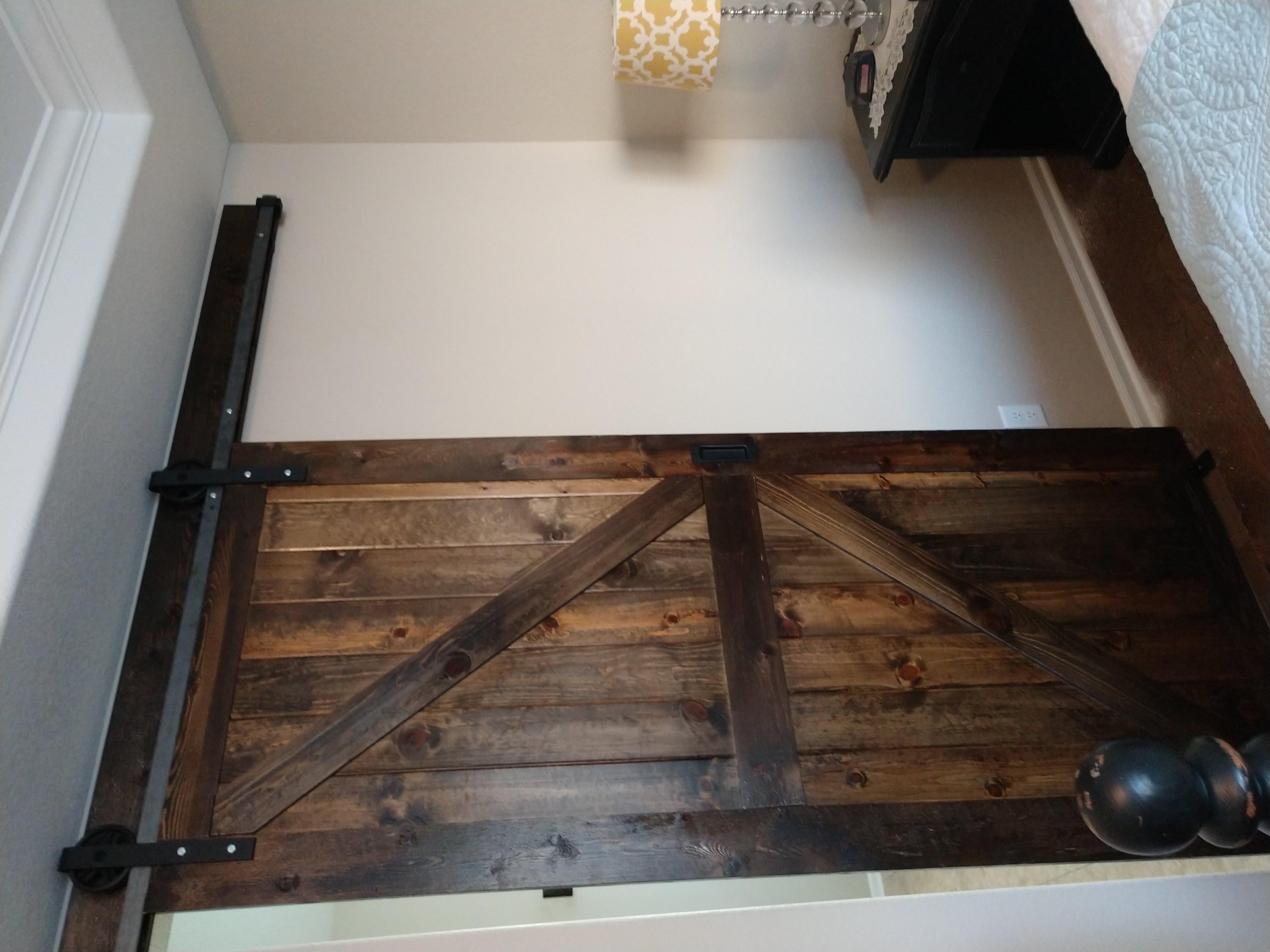 Dark Stain Barn door
