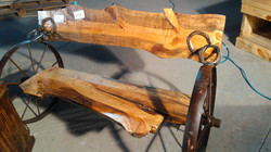 Pine Wheel Bench 18