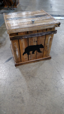 Stain with Bear Cut out