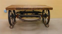 Wagon Wheel Axle Table