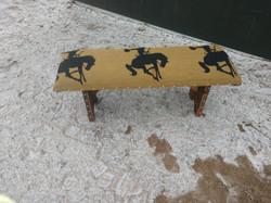 Tan Bucking Horse Bench