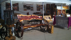 5' Cedar Wheel Bench 05