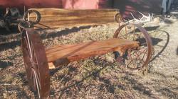 Pine Wheel Bench 8