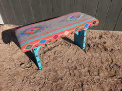 Turquoise Southwest Covered Bench