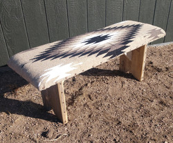 Aztec Tan Covered Bench