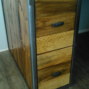 Pine File Drawers with Metal
