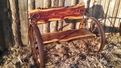 Cedar Wheel Bench 03