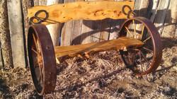 Pine Bench Straight Back 06