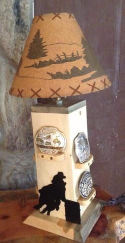 Barrel Racer Display Lamp