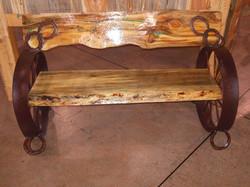 Pine Wheel Bench 17