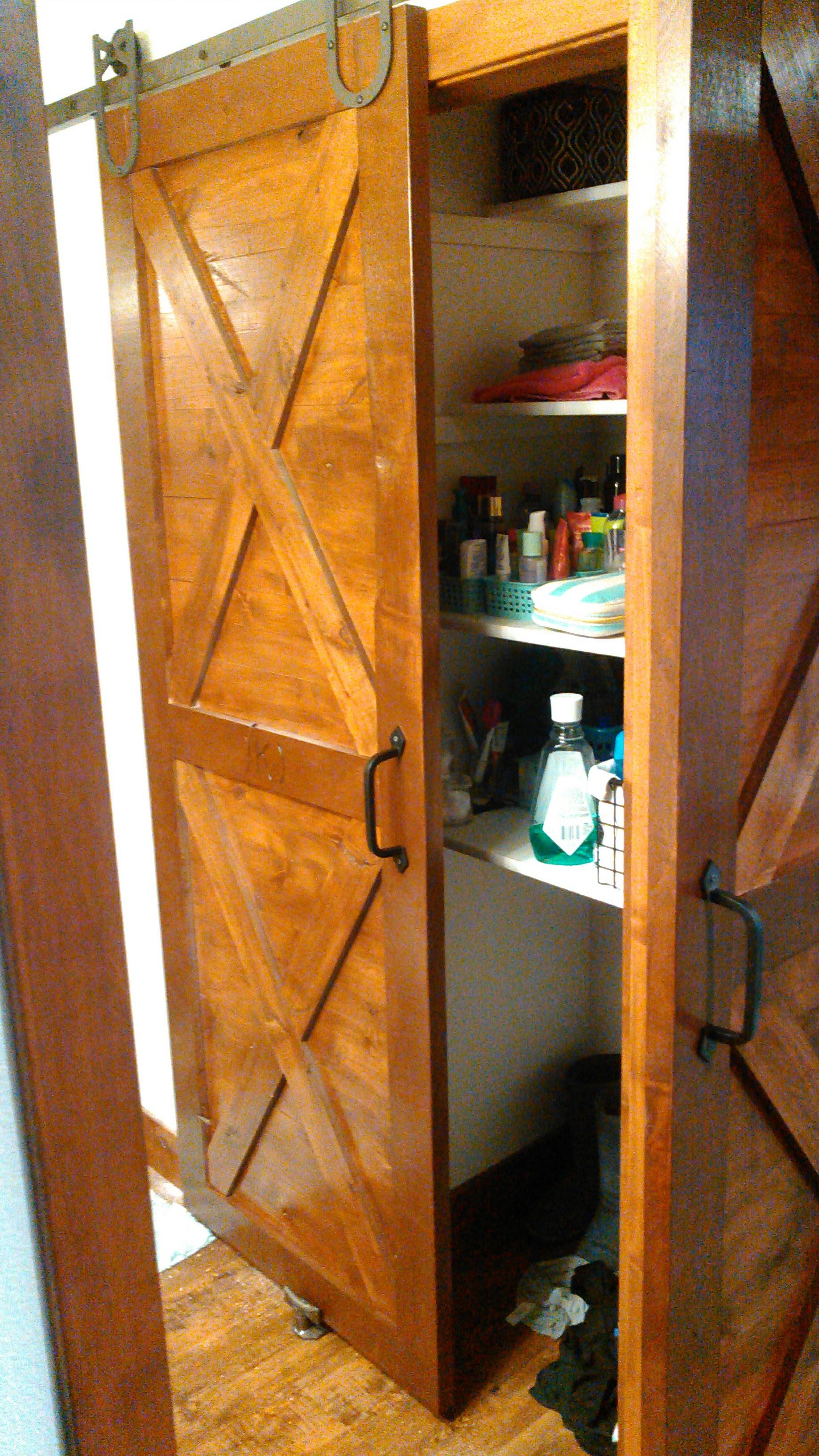 Custom Bathroom Closet Barn Door