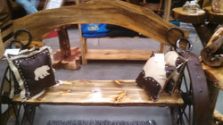 Pine Wood Arch Bench 04