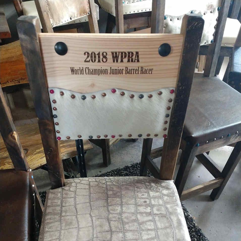 WPRA World Finals Champion Chair