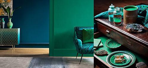 Zoffany-Paint-banner-emerald-drapes-styl