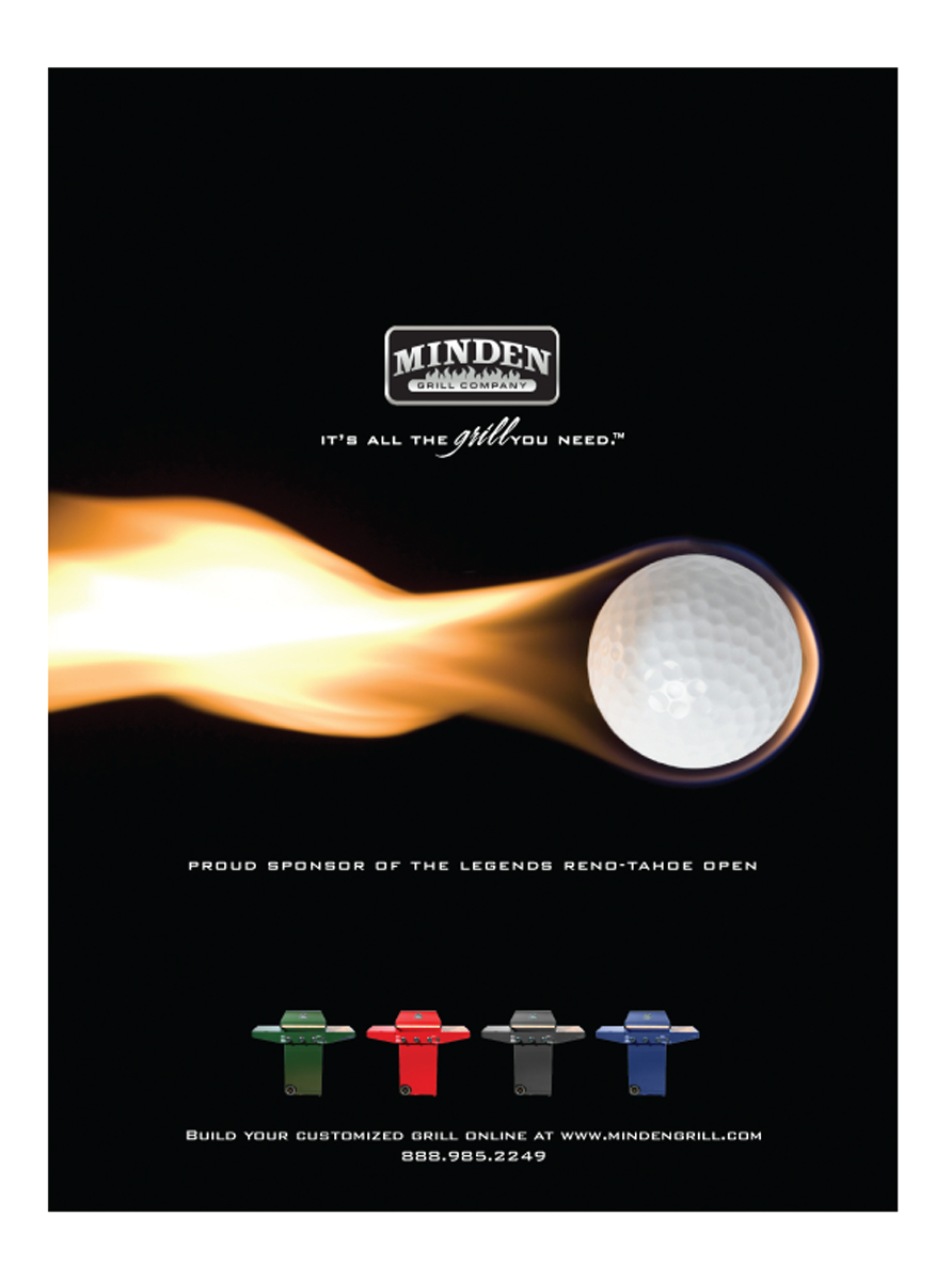 Minden Grill Full Page Golf ad