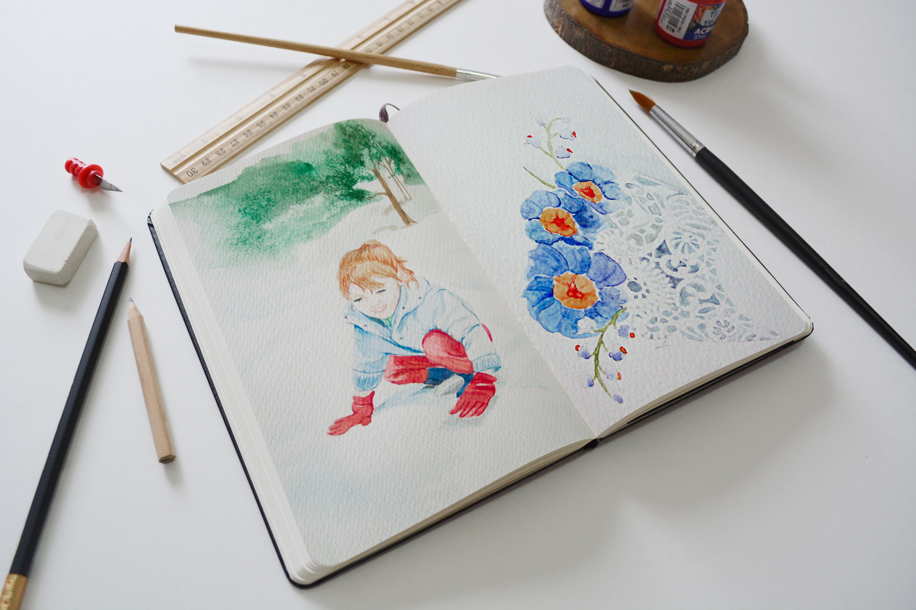 Watercolor Drawings
