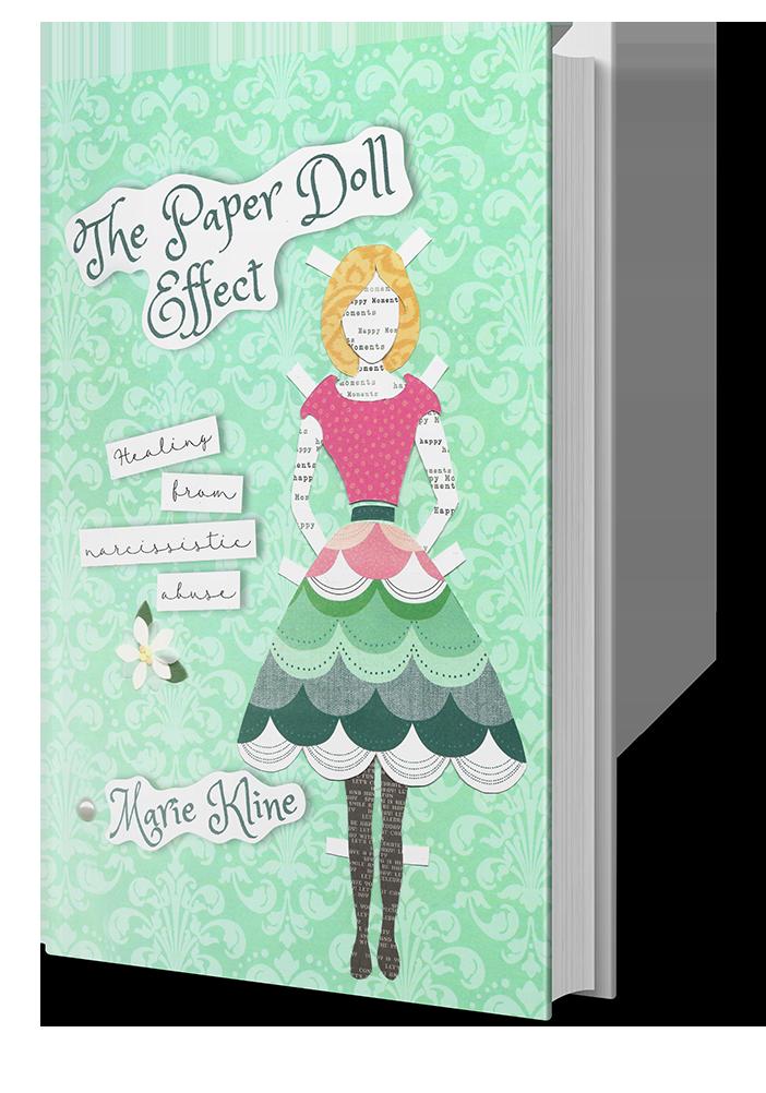 Paperdoll effect 3-4 standingBooks Mocku