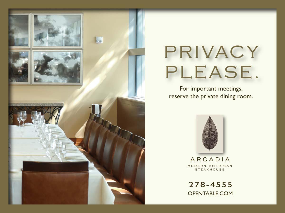 Arcadia Restaurant ad