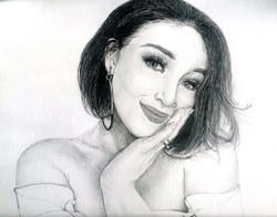 Melody pencil portrait