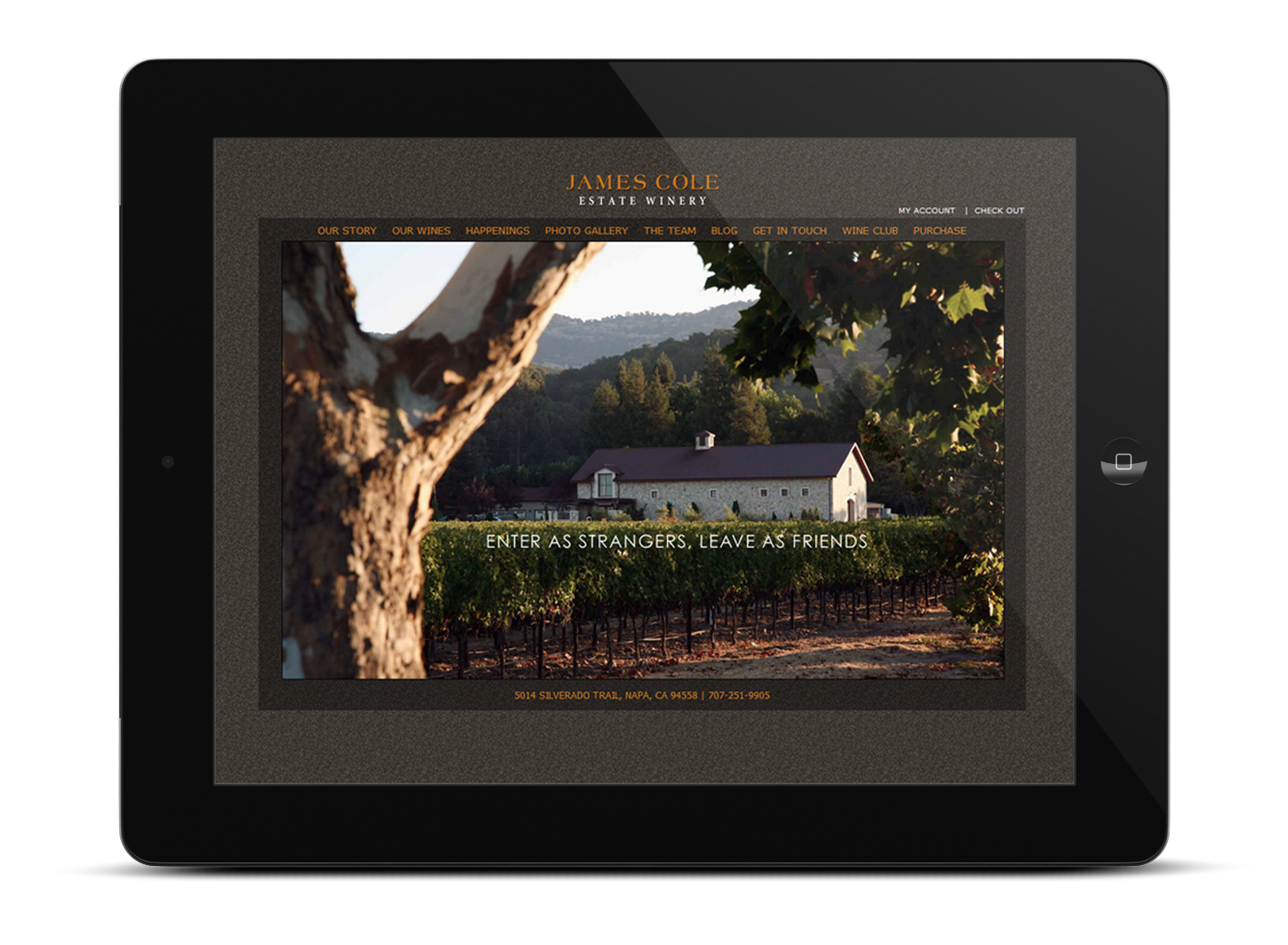 James Cole Winery Web Site