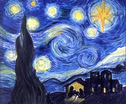 Starry Starry Christmas illustration