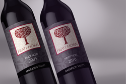 Frati Horn Pinot labels