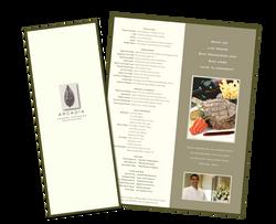 ARCADIA Restaurant menu