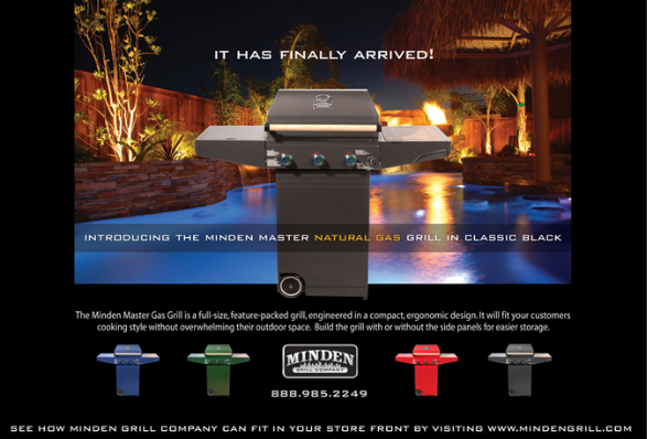 Minden Grill half page ad