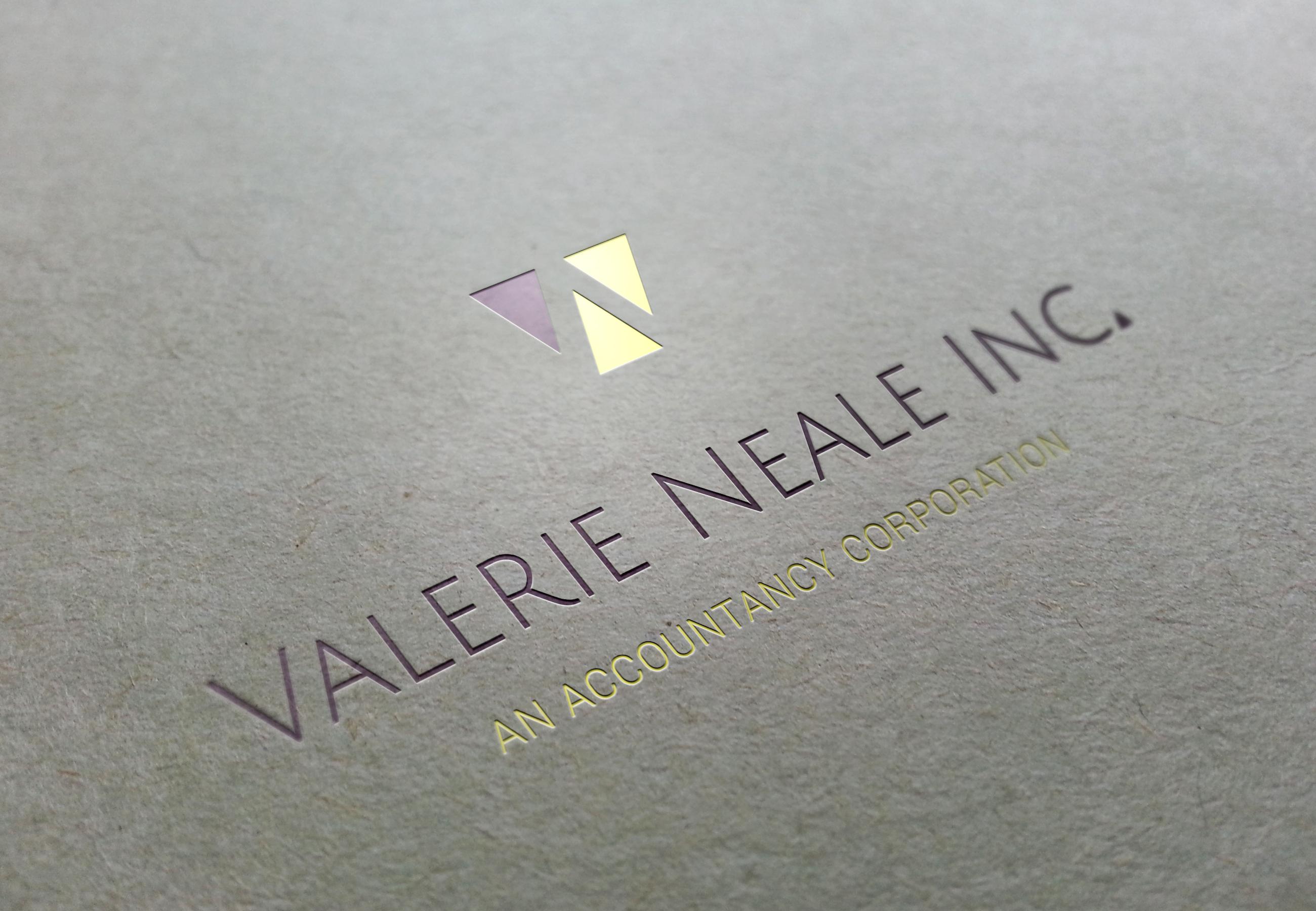 Valerie Neale logo foil mockup