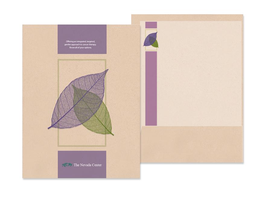 Cancer treatment center folder