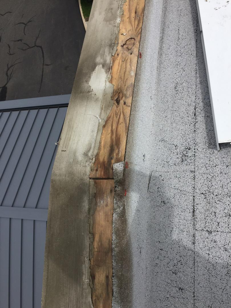 Day 1 Surprise - Wet Wood Under Metal Coping