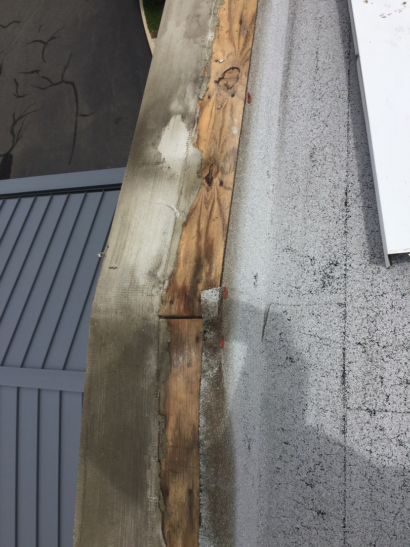 Day 1 Surprise - Wet Wood Under Metal Coping