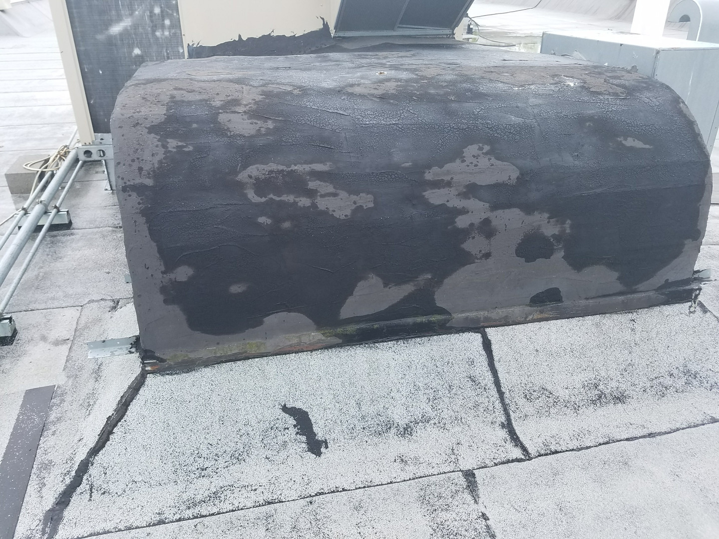 Initial Survey - Black Tar on Duct, Typical Form