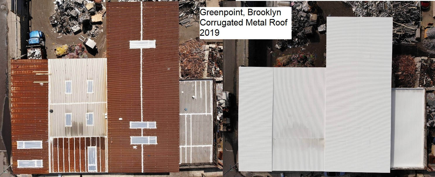 Before & After Greenpoint Corrugated Met
