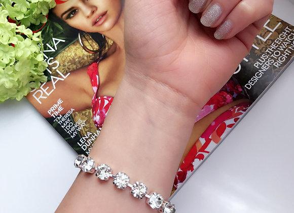 Silver Sparkles Swarovski Tennis Bracelet