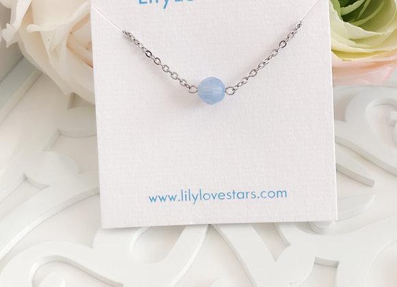 Iridescent Blue Swarovski Crystal Silver Bracelet