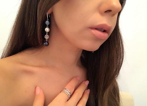 Swarovski Sparkles Silver Earring