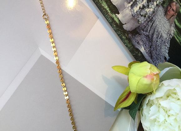 Golden Disk Shining Bracelet