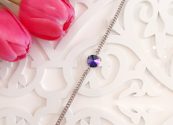Purple and Green Rivolis Bracelet