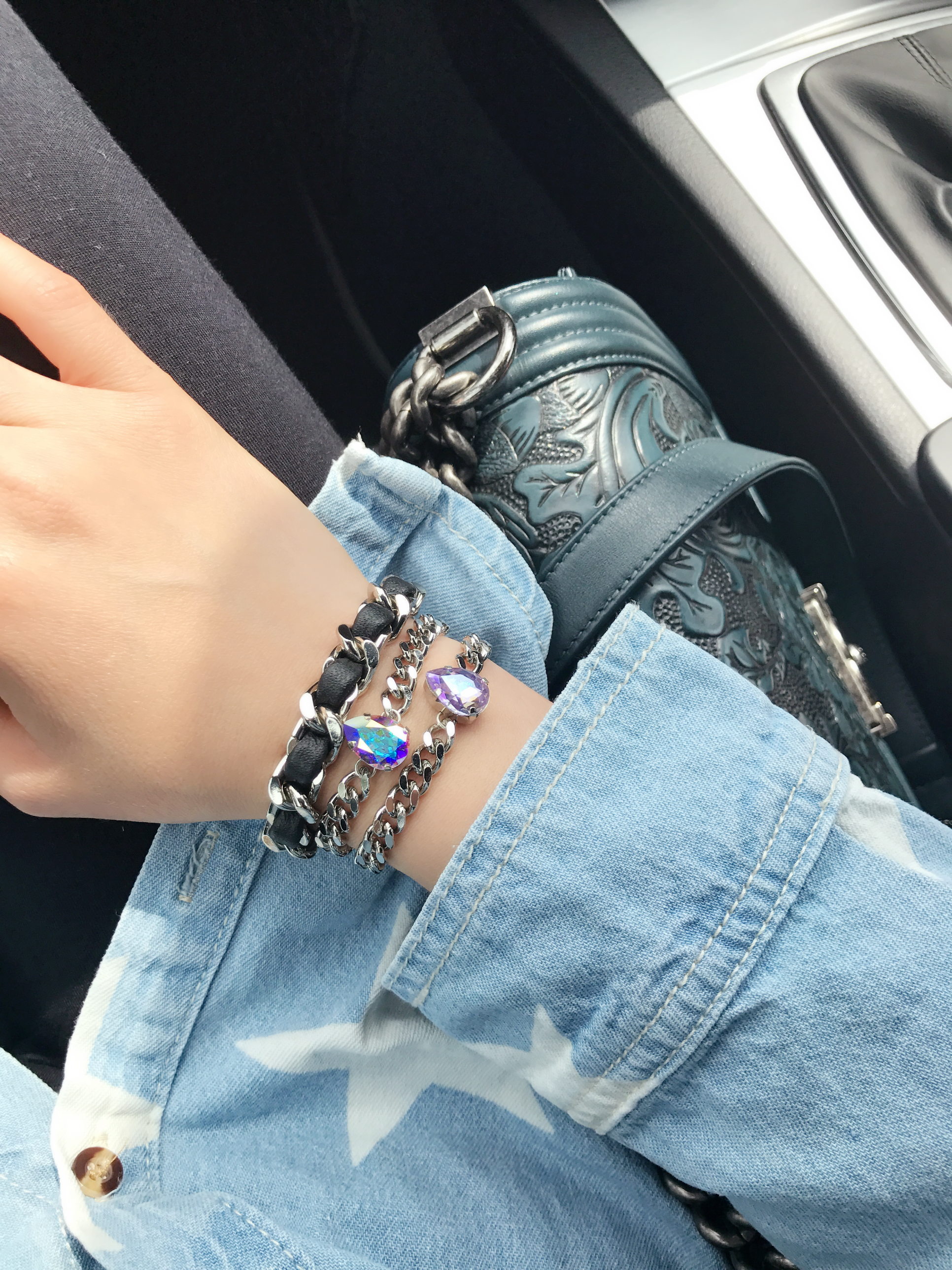 Coco Leather and Rock Star Bracelets
